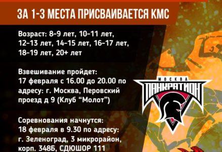 Чемпионат Москвы по ПАНКРАТИОНУ